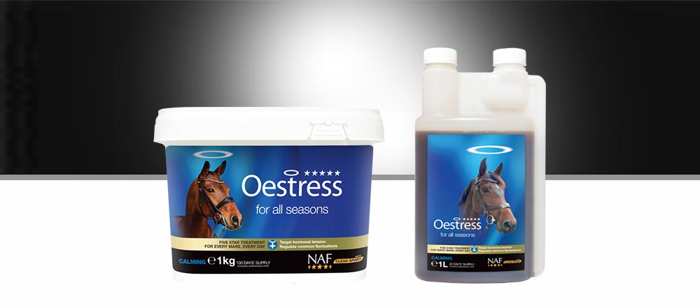 NAF F/ünf Sterne Oestress Pferd Hormon Nahrungserg/änzungsmittel Fl/üssigkeit x 1 Lt